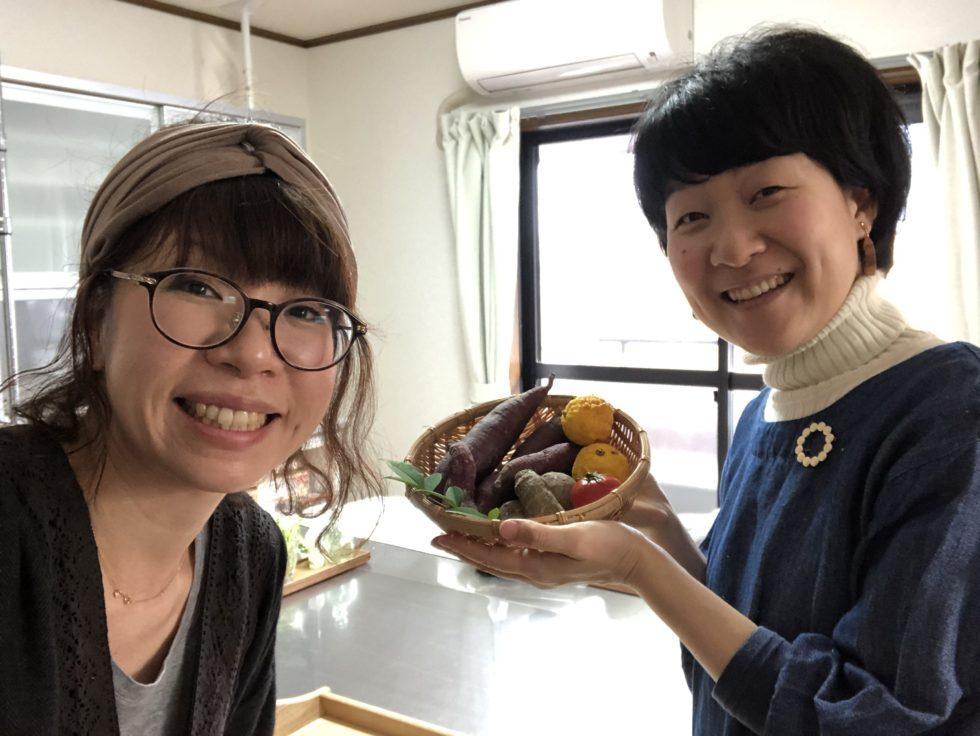 重ね煮料理教室糸と和三原直子さんと写真撮影用背景ボード撮影会