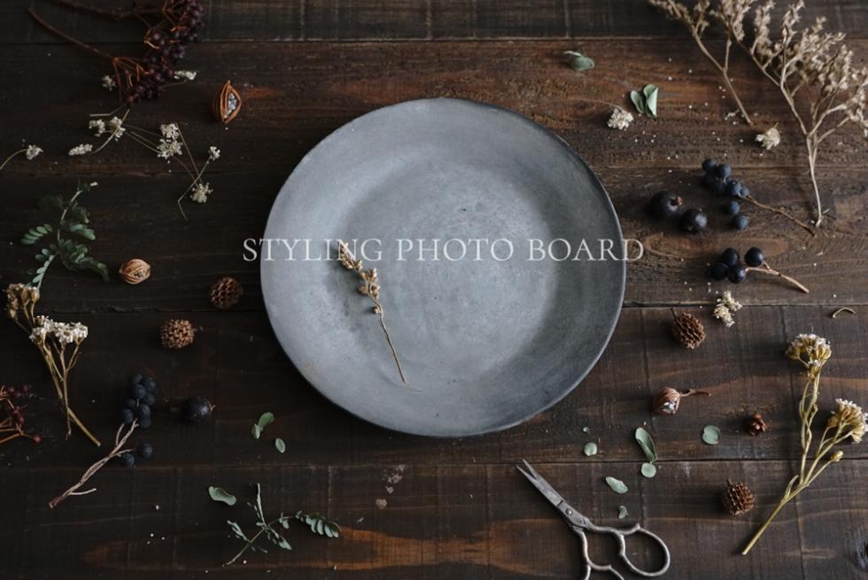 古材テーブル風のスタイリングボード