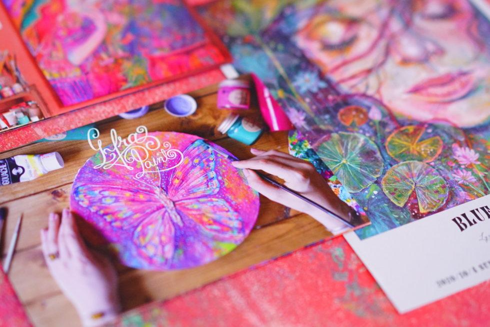 beautiful girl art paint